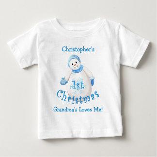 Grandson's 1st Christmas Snowman from Grandma T-shirt