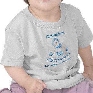 Grandson's 1st Christmas Snowman from Grandma T-shirts