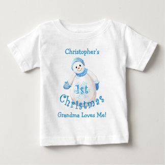 Grandson's 1st Christmas Snowman from Grandma T Shirts