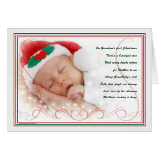 Grandson's 1st Christmas Sweet Poem with Name Card