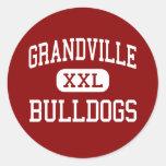 Grandville - Bulldogs - High - Grandville Michigan Round Sticker