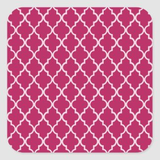 Granita Red, Fuchsia Hue & White Moroccan Pattern Stickers