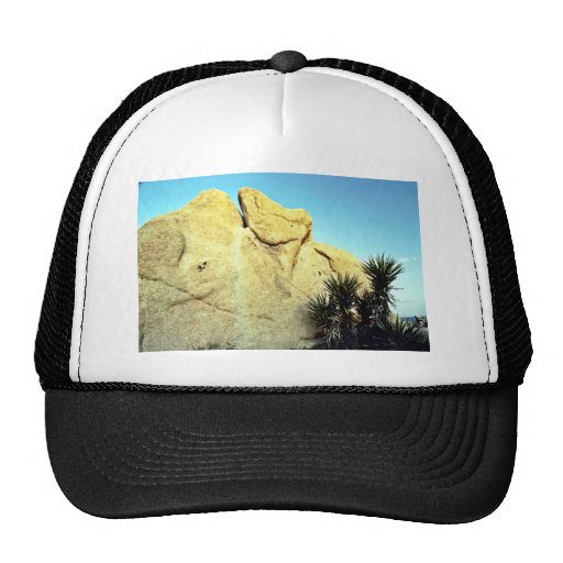 Granite Boulder And Young Joshua Tree Trucker Hat