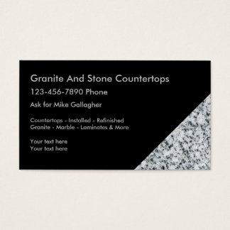 Granite Decorating Business Cards