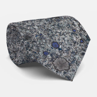 Granite Grey with Blue Details Tie