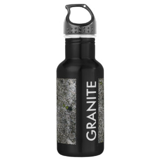 Granite Grey with Text 532 Ml Water Bottle