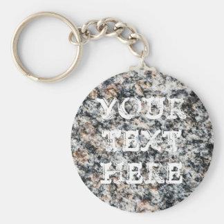 Granite - Hard Rock Key Ring