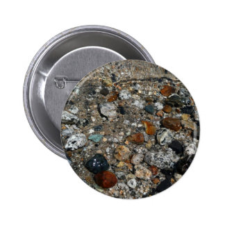 Granite Pebbles in Tenaya Lake Yosemite Nature 6 Cm Round Badge