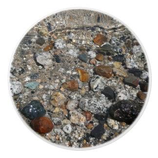 Granite Pebbles in Tenaya Lake Yosemite Nature Ceramic Knob