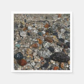 Granite Pebbles in Tenaya Lake Yosemite Nature Paper Napkin
