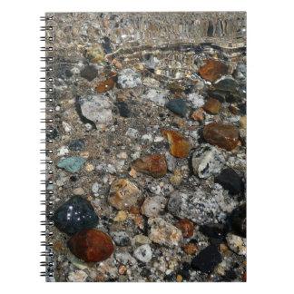 Granite Pebbles in Tenaya Lake Yosemite Nature Spiral Note Books