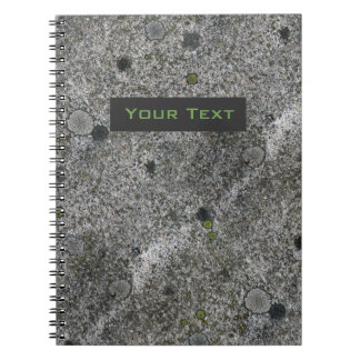 Granite Rock Grey with Text Label Note Books