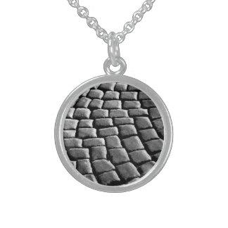 Granite Round Pendant Necklace
