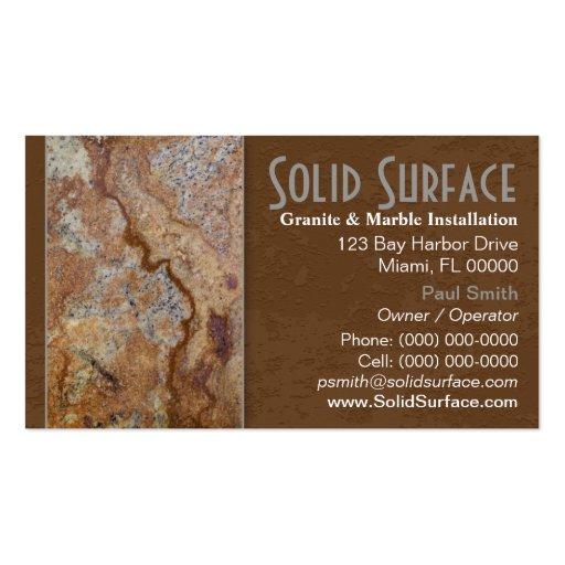 Granite Slab Business Card