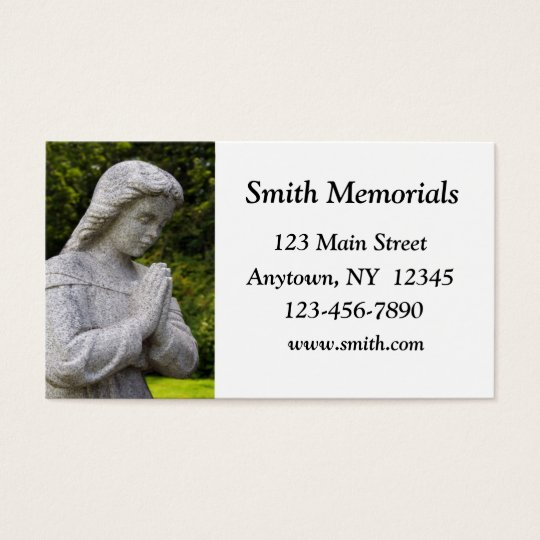 Granite Statue Business Card