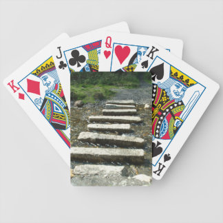 Granite Stepping stones across a river Bicycle Playing Cards
