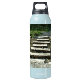 Granite Stepping stones across a river Insulated Water Bottle