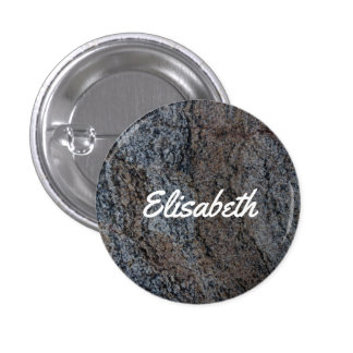 Granite stone red black texture 3 cm round badge