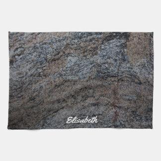 Granite stone red black texture tea towels