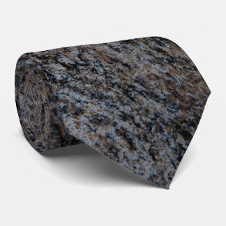 Granite stone red black texture tie
