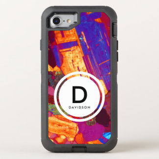 Granite Thin Section with Gypsum Plate Monogram OtterBox Defender iPhone 8/7 Case