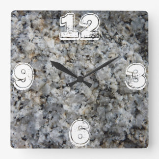 Granite Time with Hard Rock Custom Number Overlay Wall Clock