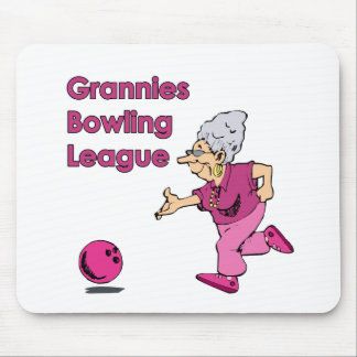 Grannies Bowling League Mouse Pad