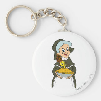 Granny and TWEETY™ Pie Basic Round Button Key Ring