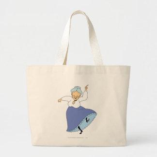 Granny Dancing - Color Large Tote Bag