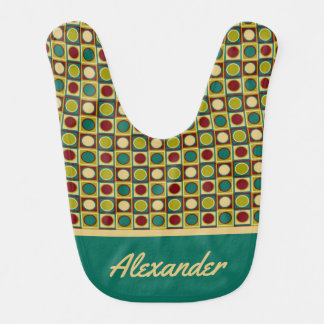 Granny Flowers Boxes Personalized Bib