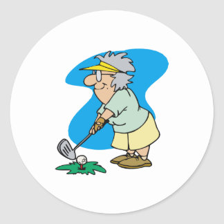 Granny Golfer Sticker
