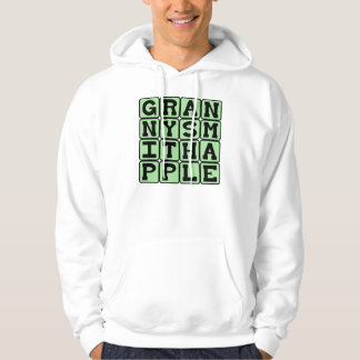 Granny Smith Apple, Color and Fruit Hoodie