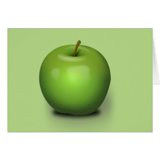 Granny Smith Apple Greeting Card