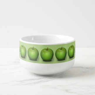 Granny Smith Apple Soup Bowl With Handle
