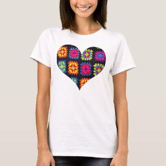 Granny Square T-shirt - Heart Crochet T-shirt