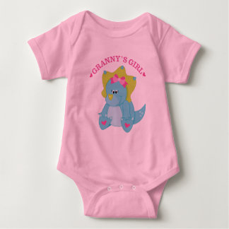 Grannys Girl Dinosaur Baby Bodysuit