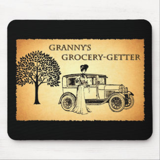 Granny's Grocery Getter Mouse Pad