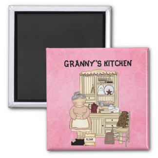 GRANNY'S KITCHEN SQUARE MAGNET