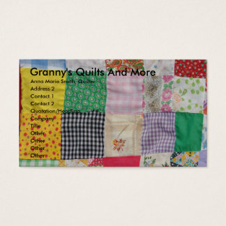 Granny's Quilts And More Business Card