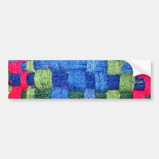 Granny's Woven Potholder Pattern Bumper Sticker