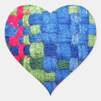 Granny's Woven Potholder Pattern Heart Sticker
