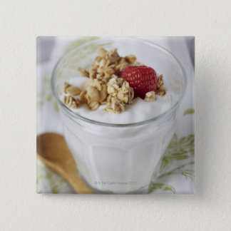 Granola, Oats, Toasted, Fruit, Berry, Raspberry, 15 Cm Square Badge