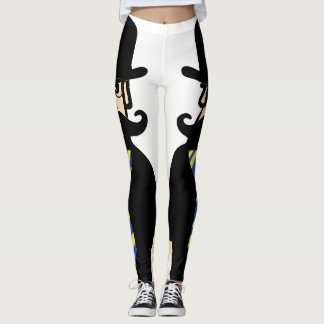 granpa cartoon leggins leggings