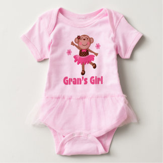 Gran's Girl Grandchild Monkey Ballerina Tutu Tee
