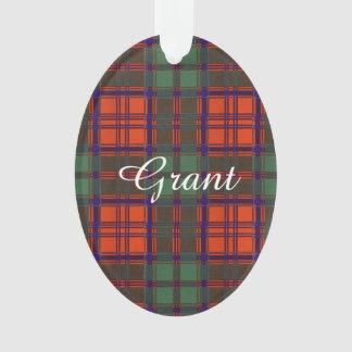 Grant clan Plaid Scottish tartan Ornament