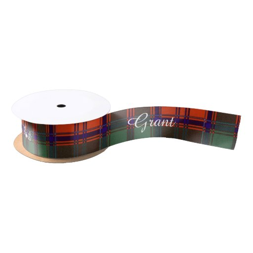 Grant clan Plaid Scottish tartan Satin Ribbon