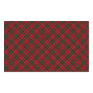 Grant Clan Tartan Designed Print Rectangular Sticker