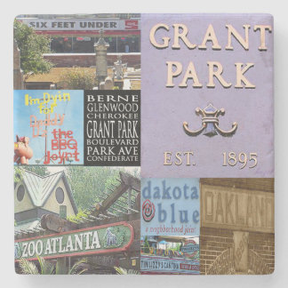 Grant Park Atlanta Collage Coasters