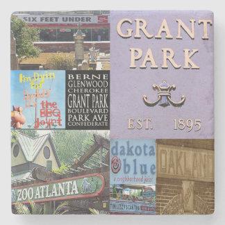 Grant Park Atlanta Collage Coasters Stone Beverage Coaster