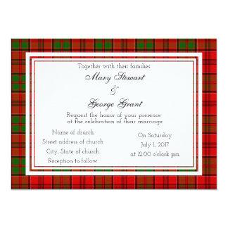 Grant Scottish Wedding Invitation